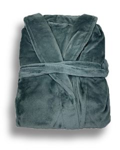 Super zachte badjas in de kleur zeegroen  fleecebadjas,  SPECIALE PRIJS