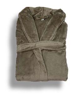 Super zachte badjas in de kleur zand fleecebadjas,  SPECIALE PRIJS