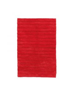 Seahorse  badmat Board, streep   Rood  zware kwaliteit 100% katoen