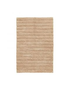 Seahorse  badmat Board, streep  Zand, caramel  zware kwaliteit 100% katoen