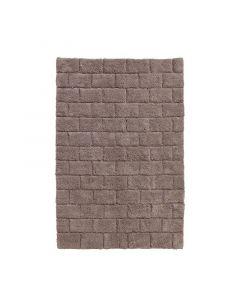 Seahorse  badmat Metro, blok, taupe, cement  zware kwaliteit 100% katoen