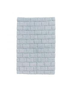 Seahorse  badmat  Metro , blok,   Zacht blauw  zware kwaliteit 100% katoen