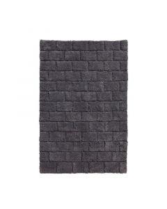 Seahorse  badmat  Metro, blok, Grafiet grijs  zware kwaliteit 100% katoen
