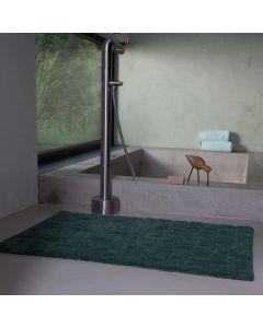Seahorse  badmat  Metro, blok,  Donker groen  zware kwaliteit 100% katoen