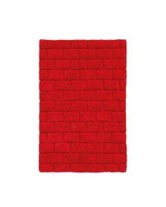 Seahorse  badmat Metro, blok,   Rood  zware kwaliteit 100% katoen