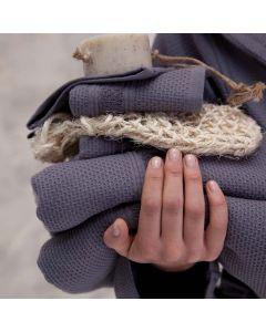 Seahorse Badgoed Balance kleur grijs  zachte dikke badstof, diverse maten, 100% katoen