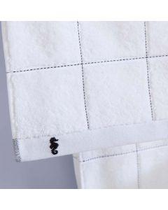 Seahorse Badgoed Grid, ruit  kleur wit  zachte dikke badstof, diverse maten, 100% katoen
