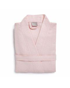Zomer Wafel badjas Seahorse  kleur  zacht rose 100% katoen  pearl pink