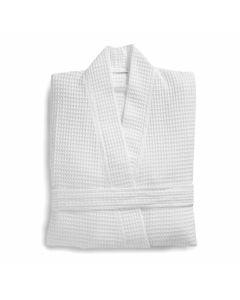 Zomer Wafel badjas Seahorse  kleur  wit 100% katoen  white